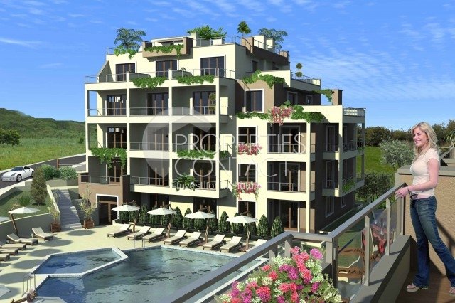 "Apartments in the town of Byala - the ""Kiwi Garden"", the northern coast of Bulgaria"