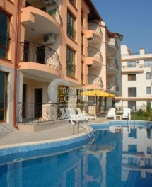 For sale one-bedroom apartment with sea view in Saint Vlas in a cozy complex, Bulgaria. Low maintenance fee