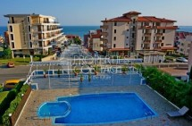 For sale one-bedroom apartment with sea view in Bulgaria in the town of Sveti Vlas