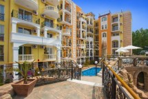 For sale spacious and comfortable two-bedroom apartment in Sunny Beach in Bulgaria