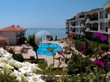 One bedroom apartment with sea views on the first line in the city of St. Vlas. Resale property for sale in San Coast complex in Bulgaria