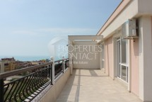 One-bedroom apartment for sale in Saint Vlas with a huge panoramic terrace and views of the sea and mountains in Bulgaria