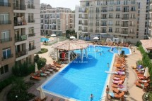 For sale one-bedroom apartment in Bulgaria in the complex Down Park in Sunny Beach