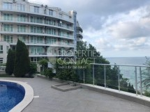 For sale- a spacious furnished studio with front sea view in the complex Silver Beach, Byala,Bulgaria