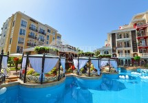 Resale in Bulgaria in Sunny Beach. One-bedroom apartment for sale in the complex Messembria Palace
